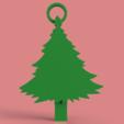 Télécharger plan imprimante 3D gatuit Porte-clés d'arbre de Noël, TK3D