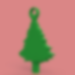 Free 3D printer model Christmas Tree Key Chain, TK3D