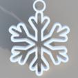 Free 3D print files Snowflake Ornament, TK3D