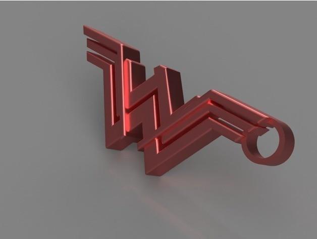 8df518031a885d9902bb4e28f1c8487d_preview_featured.jpg Download STL file Wonder Woman Keychain • 3D printable template, 3DPrintingGurus