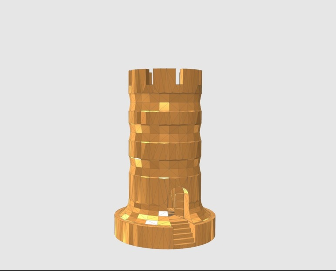Capture d'écran 2017-05-31 à 17.43.44.png Download free STL file Rook With Staircase • Template to 3D print, 3DPrintingGurus