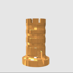 Free 3D print files Rook With Staircase, TK3D
