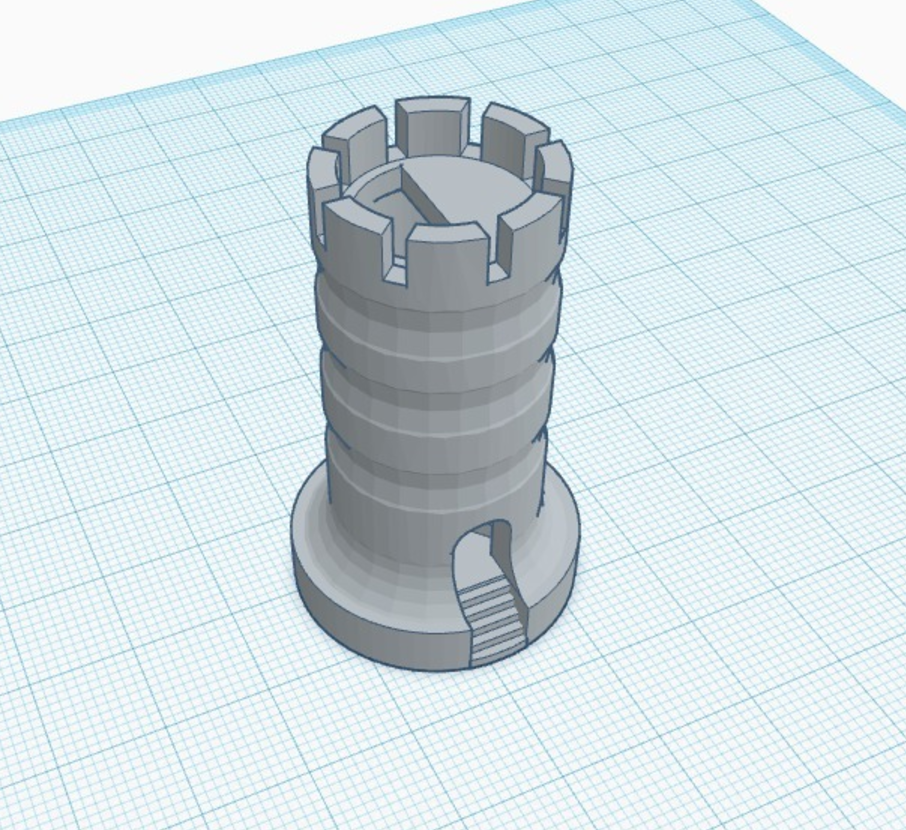 Capture d'écran 2017-05-31 à 17.43.51.png Download free STL file Rook With Staircase • Template to 3D print, 3DPrintingGurus