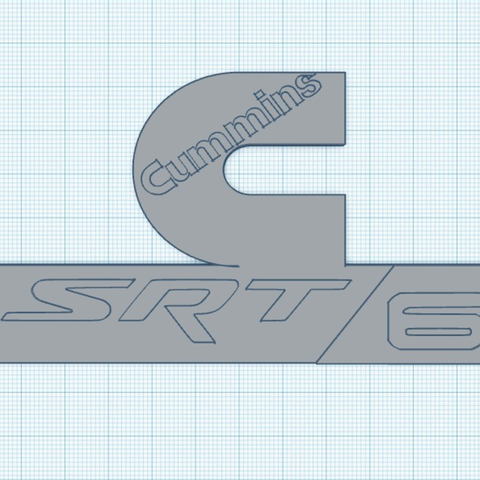 Capture d'écran 2017-05-31 à 17.06.06.png Download free STL file Cummins SRT 6 badge • 3D print template, 3DPrintingGurus