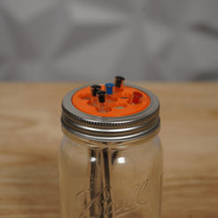 Pencil Cup Mason Jar.png Download STL file Mason Jar Pencil Cup Lid • 3D printable model, 3DPrintingGurus