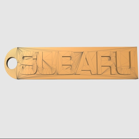 Free 3D print files Subaru Key chain, TK3D