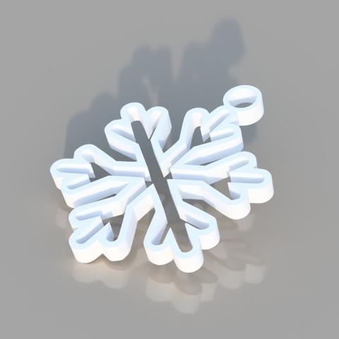 Download free 3D model Snowflake Ornament, TK3D