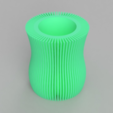 Free 3d model Linear Pattern Vase, TK3D