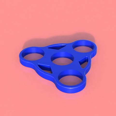 Download free STL file Cool Fidget Spinner ( Triple ) • 3D printing template, 3DPrintingGurus