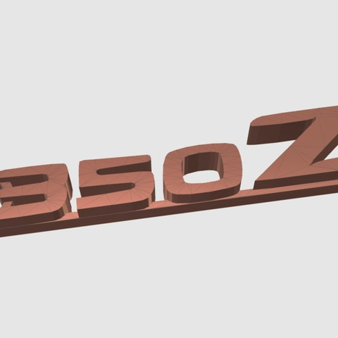 Download free STL file Nissan 350Z keychain • 3D print template, 3DPrintingGurus