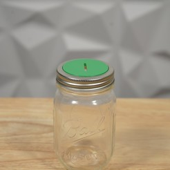 DSC05118 copy.jpg Download STL file Mason Jar Piggy Bank Lid • 3D printer object, 3DPrintingGurus