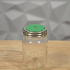 Télécharger fichier STL Couvercle de la tirelire de Mason Jar • Modèle imprimable en 3D, 3DPrintingGurus