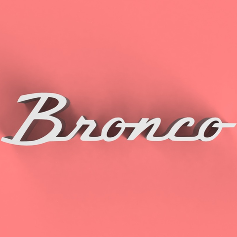 Free Bronco Classic Badge 3D model, TK3D