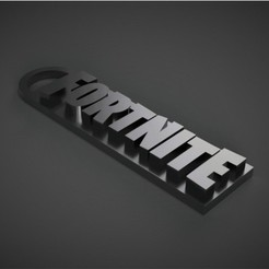 Download STL file Fortnite Key Chain • 3D printing design, 3DPrintingGurus