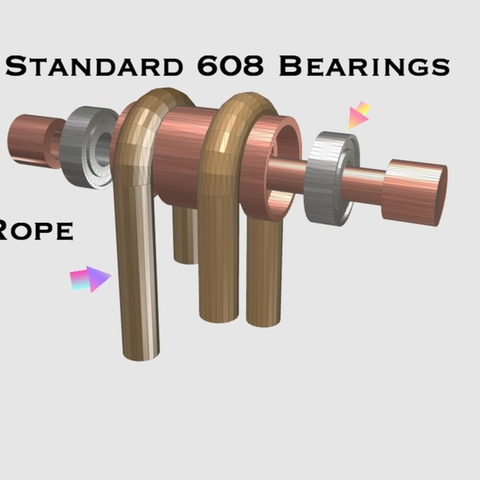 Free 3D model Pulley With 608 bearings, TK3D
