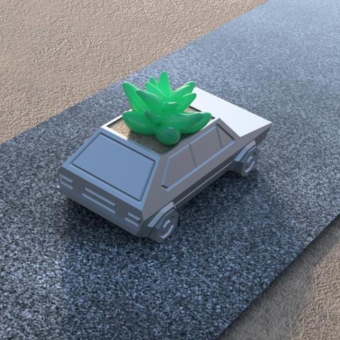 Capture d'écran 2017-05-31 à 19.52.59.png Download STL file Volkswagen Golf GTI - Low Poly Planter • 3D printer design, 3DPrintingGurus