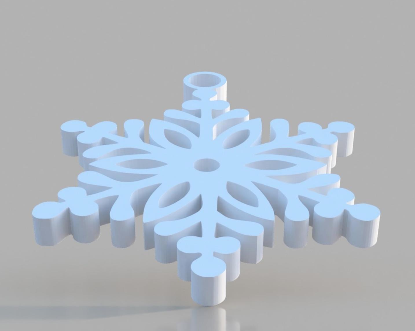 Capture d'écran 2017-12-19 à 16.53.00.png Download STL file Snowflake Ornament • 3D printer design, 3DPrintingGurus