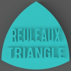 Download free STL files Reuleaux Triangle, TK3D