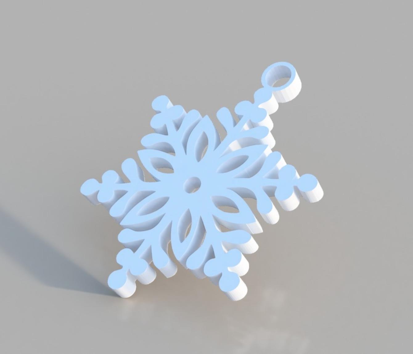 Capture d'écran 2017-12-19 à 16.52.53.png Download STL file Snowflake Ornament • 3D printer design, 3DPrintingGurus
