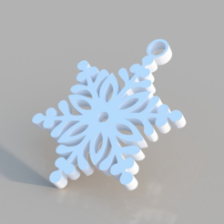 Free 3d print files Snowflake Ornament, TK3D