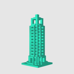 Free 3D printer designs Skyscraper, TK3D