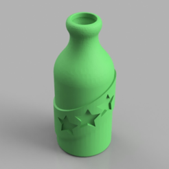 Free Booze Fighter Bottle and Badge 3D printer file, TK3D