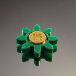 Free Gear/Flower Spinner 3D printer file, TK3D