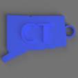 Download free 3D printer designs Connecticut Key Chain, TK3D