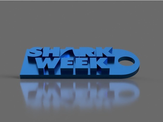 21d7c34a0b21b2a5cb82a1765741857d_preview_featured.jpg Download free STL file Shark Week Keychain • 3D printing object, 3DPrintingGurus