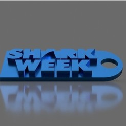 Download free 3D printing designs Shark Week Keychain, TK3D