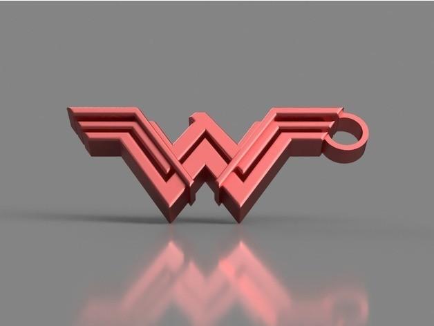 2d75f0625d1f30d449a3b0a404d2e356_preview_featured.jpg Download STL file Wonder Woman Keychain • 3D printable template, 3DPrintingGurus