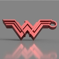 Download free 3D printer templates Wonder Woman Keychain, TK3D