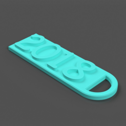 Download free 3D printer templates 2018 Key Chain, TK3D