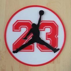 Jordan Noir 23 Rouge 1.jpg Télécharger fichier STL Jordan 23 • Modèle à imprimer en 3D, SerpikoDesign