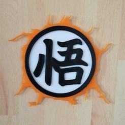 Goku 4.jpg Télécharger fichier STL Goku Symbol - DBZ • Plan pour imprimante 3D, SerpikoDesign