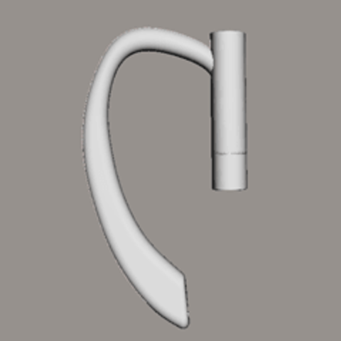 ore.png Download free STL file earphone hook earring • 3D printer template, arthurG