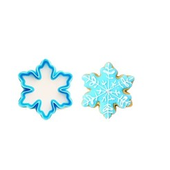 2 - snowflake.jpg Download STL file Christmas cookie cutter Mini #2 Snowflake cookie cutter • 3D print model, IvonTDI3D