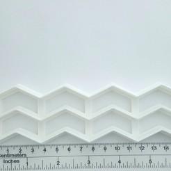 Télécharger objet 3D coupe-fondant à chevrons en zigzag, ivonbm