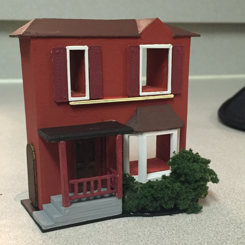 Download free 3D printer templates HO Scale Model Train Home, bromego