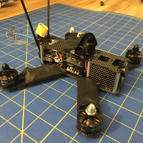 Download free 3D printer model D4R-II Mount QAV210 / Crazypony H210, bromego