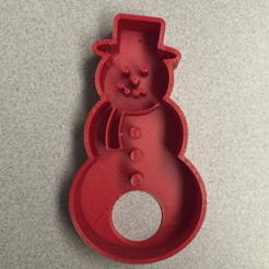 Free 3d printer files Snowman Cookie Cutter, bromego