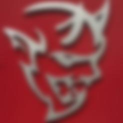 Dodge_Demon_Back.stl Download free STL file Dodge Demon Plaque • 3D printing model, bromego