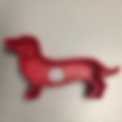 Download free 3D printing designs Dachshund Cookie Cutter, bromego