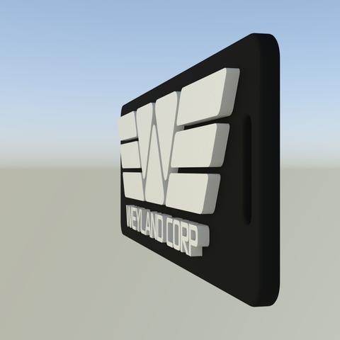 WeylandCorpTag1.png Download free STL file Weyland Corporation luggage tag • 3D printer object, Leonidass