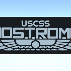 Download free STL file Nostromo logo luggage tag • 3D printing model, Leonidass
