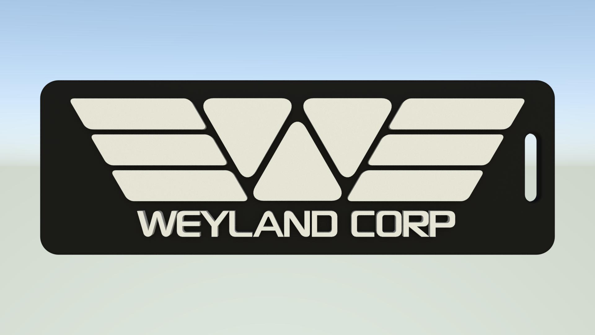 WeylandCorpTag.png Download free STL file Weyland Corporation luggage tag • 3D printer object, Leonidass