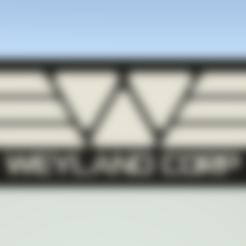 WeylandCorpTag.stl Download free STL file Weyland Corporation luggage tag • 3D printer object, Leonidass