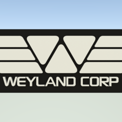 WeylandCorpTag.png Download free STL file Weyland Corporation luggage tag • 3D printer object, Leonidass