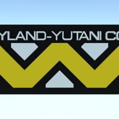 Descargar diseños 3D gratis etiqueta del equipaje de Weyland Yutani-, Leonidass