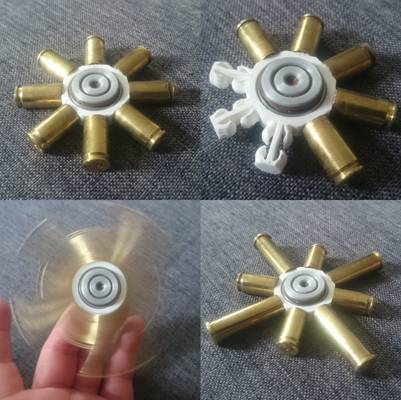 Unbenannt.PNG Download free STL file Bullet Shell Spinner • Object to 3D print, 87squirrels